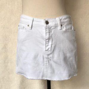 Gap White Denim Skirt